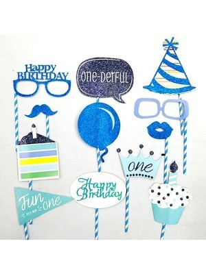 Ready Made Boy 1st Birthday Props On Sticks