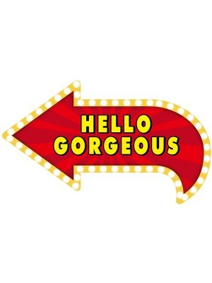 'Hello Gorgeous' Vegas Showtime Style Photo Booth Prop