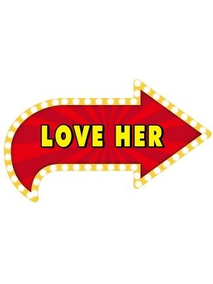 'Love Her' Vegas Showtime Style Photo Booth Prop