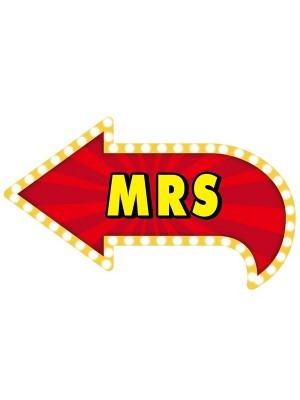 'Mrs' Vegas Showtime Style Photo Booth Prop