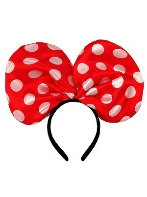 Minnie Mouse Style Red Dot Bow