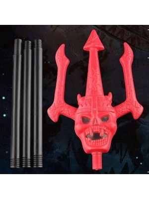 Red Devil Fork with Skull Face