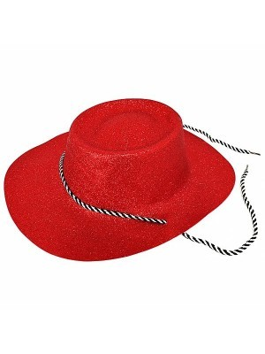 Red Glitzy Cowboy Hat
