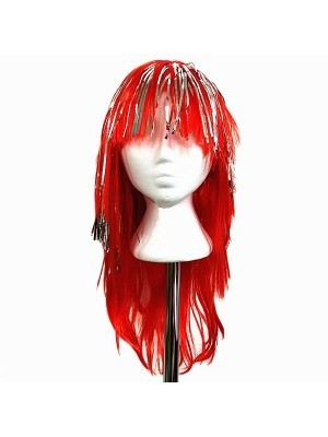 Very Glitzy Shiny Wig Red