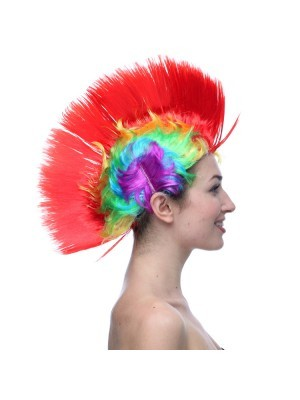 Mohican Wig Red