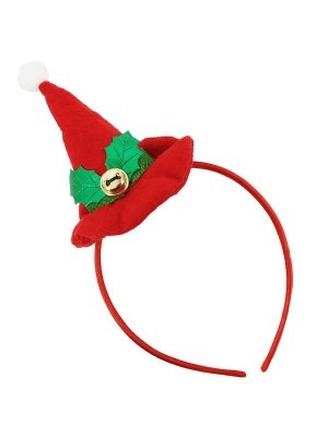 Red Pointed Hat Christmas Headband