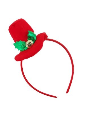 Red Top Hat Christmas Headband