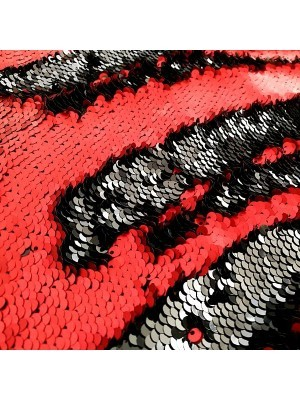 Red and Black Mermaid Sequin Backdrop
