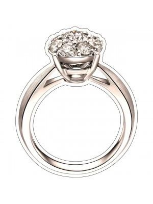 Big Diamond Engagement Ring Photo Booth Prop
