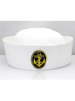 Sailors Cap With Badge Black Anchor