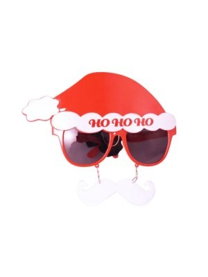 Ho Ho Ho Santa Claus Sunglasses With White Moustache