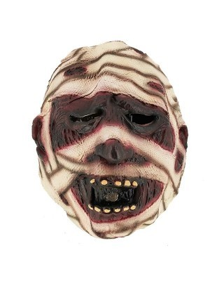 Scary Rotting Mummy Head Mask Halloween Fancy Dress Costume