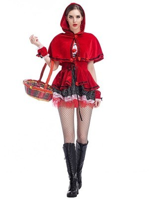 Seductive Red Riding Hood Fancy Dress Costume