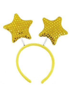 Sequined Gold Stars Headband