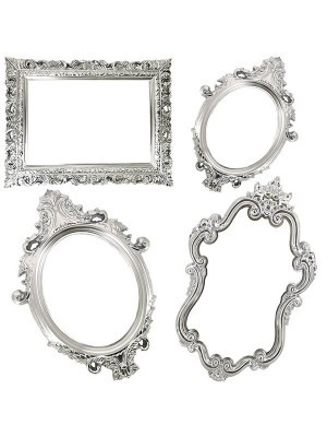 Set of 4 Silver Antique Style Posing Frames