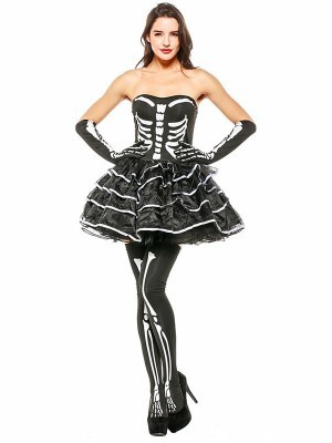 Sexy Skeleton Fancy Dress Costume