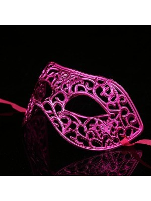 Shiny Butterfly Masquerade Mask in Dark Pink