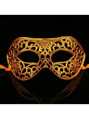 Shiny Butterfly Masquerade Mask in Gold