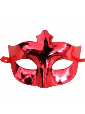 Shiny Masquerade Mask Red