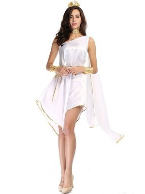 Short Grecian Goddess Fancy Dress Costume