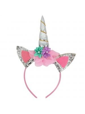 Silver Unicorn Horn Headband