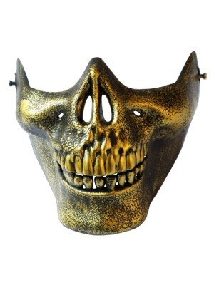 Skeleton Jaw Mask Gold