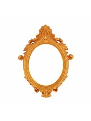 Golden Colour Antique Style Oval Posing Frame