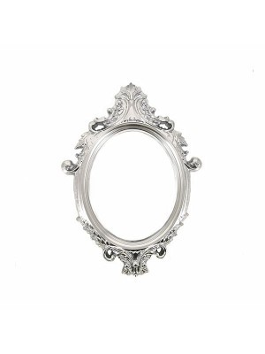 Silver Antique Style Oval Posing Frame