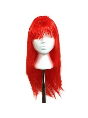 Glitzy Straight Wig Red