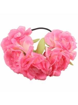 Stunning Cherry Pink Garland Flower Headband