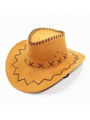 Tan Suede Effect Cowboy Hat