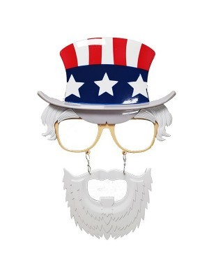 American Uncle SamTop Hat with Moustache & Beard Glasses