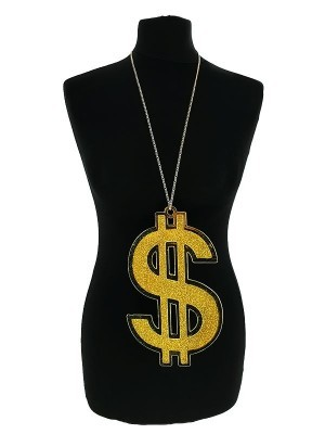 US Dollar Gangster Bling Medallion