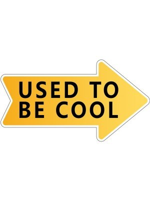 'Used To Be Cool' Word Board Photo Booth Prop