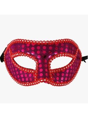 Venetian Embroided Mask Cerise