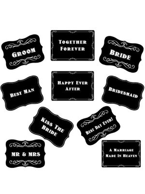 Vintage Style Wedding Word Board Multi Pack of 10