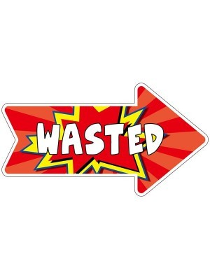 'Wasted' Word Board Photo Booth Prop