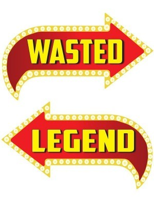 Wasted & Legend, Double-Sided PVC Vegas Arrow Photo Booth Word Board Signs
