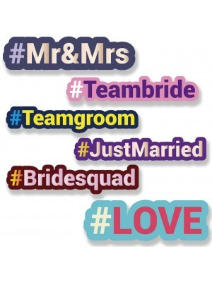 #WEDDINGPACK Trending Hashtag Oversized Multi-Pack Photo Booth PVC Word Board Signs
