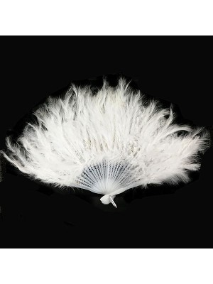 Stunning White Feather Fan