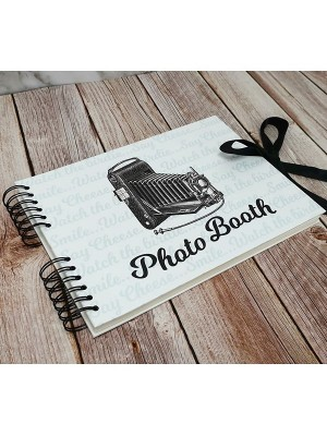 Good Size, White Photo Booth Style Guestbook with Printed Pages