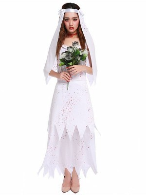 UK Halloween Bridal Veil Hen Night Fancy Dress Costume Party Bride To Be Haunted