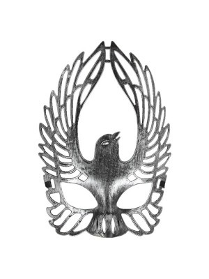 Winged Dove Mask Silver