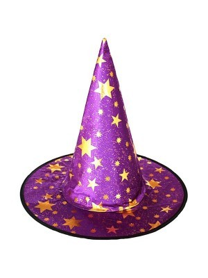Wizard Hat Purple & Gold