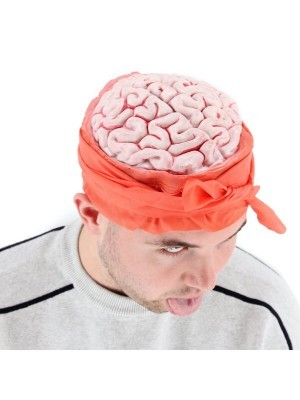 Zombie Attack Bulging Brain Bandage Halloween Hat