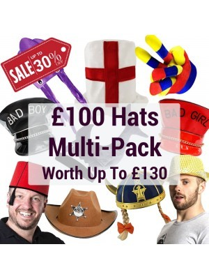 Photo Booth Hats Multi-pack Worth Up to £130