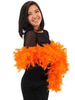 Deluxe Orange Feather Boa – 100g -180cm
