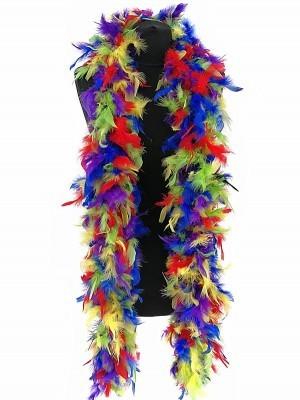 Deluxe Multi-Coloured Feather Boa – 100g -180cm