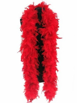 Deluxe Red Feather Boa – 100g -180cm
