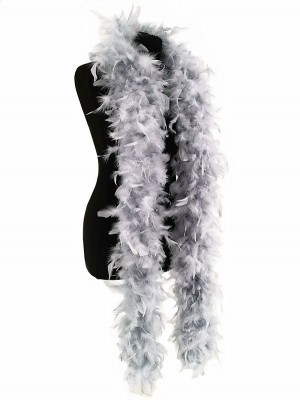 Deluxe Silver Grey Feather Boa – 100g -180cm